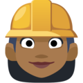 Woman Construction Worker: Medium-Dark Skin Tone on Facebook 2.2.1