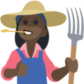 Woman Farmer: Dark Skin Tone on Facebook 2.2.1