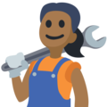 Woman Mechanic: Medium-Dark Skin Tone on Facebook 2.2.1