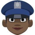 Woman Police Officer: Dark Skin Tone on Facebook 2.2.1