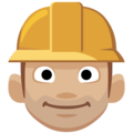 Man Construction Worker: Medium-Light Skin Tone on Facebook 2.2.1