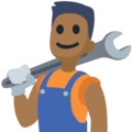 Man Mechanic: Medium-Dark Skin Tone on Facebook 2.2.1