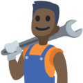 Man Mechanic: Dark Skin Tone on Facebook 2.2.1