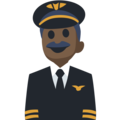 Man Pilot: Dark Skin Tone on Facebook 2.2.1