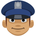 Man Police Officer: Medium Skin Tone on Facebook 2.2.1