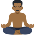 Man in Lotus Position: Medium-Dark Skin Tone on Facebook 2.2.1