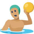 Man Playing Water Polo: Medium Skin Tone on Facebook 2.2.1