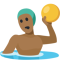 Man Playing Water Polo: Medium-Dark Skin Tone on Facebook 2.2.1