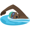 Man Swimming: Dark Skin Tone on Facebook 2.2.1
