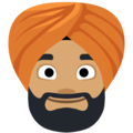Man Wearing Turban: Medium Skin Tone on Facebook 2.2.1