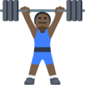 Man Lifting Weights: Dark Skin Tone on Facebook 2.2.1