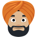 Person Wearing Turban: Medium-Light Skin Tone on Facebook 2.2.1