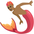Merman: Medium-Dark Skin Tone on Facebook 2.2.1