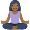 Person in Lotus Position: Medium-Dark Skin Tone on Facebook 2.2.1