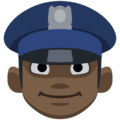 Police Officer: Dark Skin Tone on Facebook 2.2.1