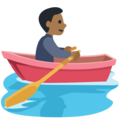 Person Rowing Boat: Medium-Dark Skin Tone on Facebook 2.2.1