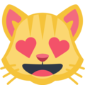 Smiling Cat Face With Heart-Eyes on Facebook 2.2.1