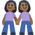 Two Women Holding Hands, Type-5 on Facebook 2.2.1