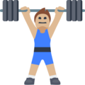 Person Lifting Weights: Medium-Light Skin Tone on Facebook 2.2.1