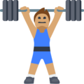 Person Lifting Weights: Medium Skin Tone on Facebook 2.2.1
