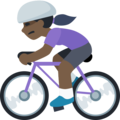 Woman Biking: Dark Skin Tone on Facebook 2.2.1