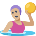 Woman Playing Water Polo: Medium-Light Skin Tone on Facebook 2.2.1