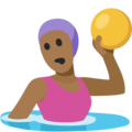 Woman Playing Water Polo: Medium-Dark Skin Tone on Facebook 2.2.1