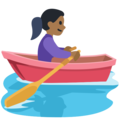 Woman Rowing Boat: Medium-Dark Skin Tone on Facebook 2.2.1