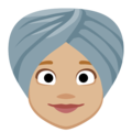 Woman Wearing Turban: Medium-Light Skin Tone on Facebook 2.2.1