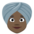 Woman Wearing Turban: Dark Skin Tone on Facebook 2.2.1