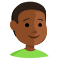 Boy: Medium-Dark Skin Tone on Messenger 1.0