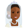 Bride With Veil: Medium-Dark Skin Tone on Messenger 1.0