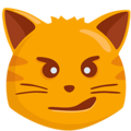 Cat Face With Wry Smile on Messenger 1.0