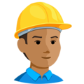 Construction Worker: Medium Skin Tone on Messenger 1.0