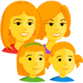 Family: Woman, Woman, Girl, Girl on Messenger 1.0