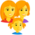 Family: Woman, Woman, Girl on Messenger 1.0