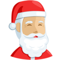 Santa Claus: Medium-Light Skin Tone on Messenger 1.0
