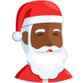 Santa Claus: Medium-Dark Skin Tone on Messenger 1.0