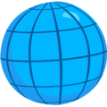 Globe With Meridians on Messenger 1.0