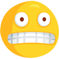 Grimacing Face on Messenger 1.0