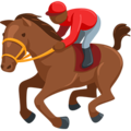 Horse Racing: Medium-Dark Skin Tone on Messenger 1.0
