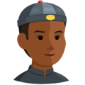 Man With Chinese Cap: Medium-Dark Skin Tone on Messenger 1.0