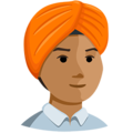 Person Wearing Turban: Medium Skin Tone on Messenger 1.0