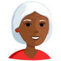 Old Woman: Medium-Dark Skin Tone on Messenger 1.0