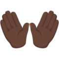 Open Hands: Dark Skin Tone on Messenger 1.0