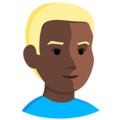 Blond-Haired Person: Dark Skin Tone on Messenger 1.0