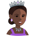 Princess: Dark Skin Tone on Messenger 1.0