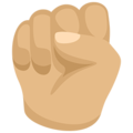 Raised Fist: Medium-Light Skin Tone on Messenger 1.0
