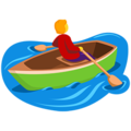 Person Rowing Boat on Messenger 1.0