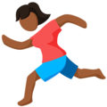 Person Running: Medium-Dark Skin Tone on Messenger 1.0